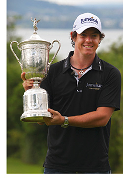 On course for success: Rory McIlroy.