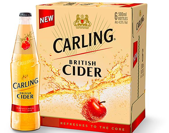 Carling's British Cider follows in the footsteps of major launches like Stella Artois Cidre and Somersby.