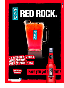 Valentine's posters with a WKD touch.