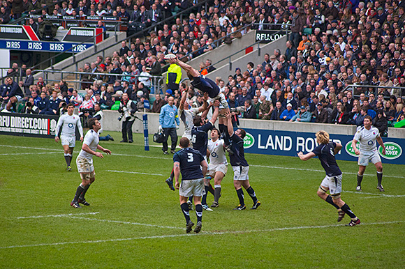 Scotland, pictured in action against England above, will be desperately hoping to improve on their 6 Nations showing of last year, when they slumped to an ignominious whitewash.