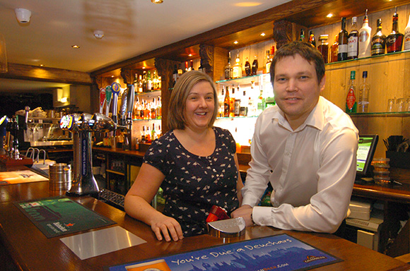 Gillian and Ben said they couldn't have passed up the opportunity to take on the pub.