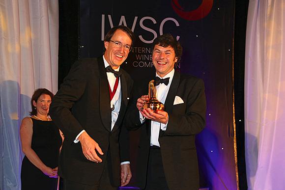 All smiles: Glenmorangie's Dr Bill Lumsden, right, with IWSC chief Mauricio Gonzalez Gordon.
