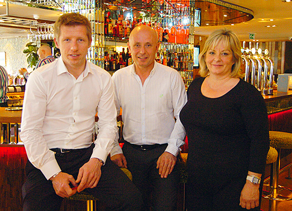 Buzzworks' co-owner Colin Blair, pictured flanked by brother Kenny and sister Alison, will address the SWA conference at Crieff Hydro in June.