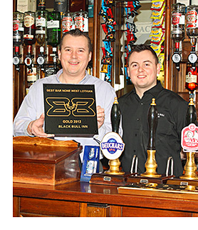 Black Bull Inn's Donald McLauchlan (left) and Kieran McLauchlan.