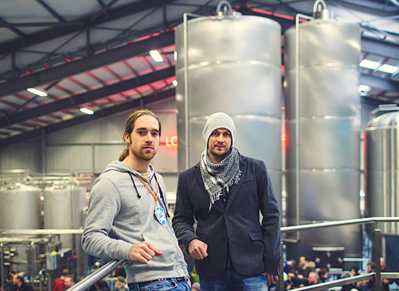 Martin Dickie and James Watt opened the new BrewDog brewery in Ellon late last month.