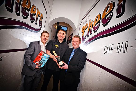 Dennis Forsyth (centre) with Sky's Brendan Napier (left) and Craig Whyte.