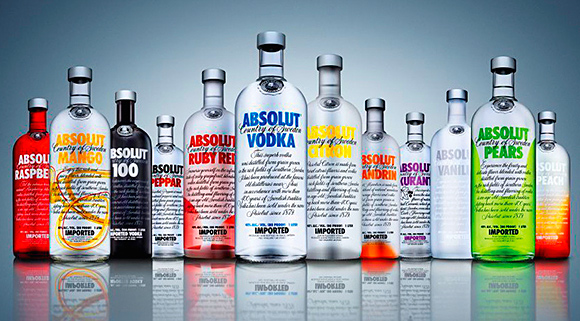 Keep flavours in range: Absolut flavoured vodkas are said to be performing well.