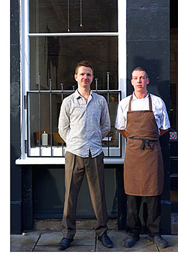 """Richard Conway and Gordon Craig launched Field restaurant in Edinburgh last month. They aim to offer the """"Michelin quality concept but without any pretentiousness""""."""