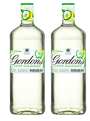 Gordon's Crisp Cucumber is a blend of the original London Dry gin with natural cucumber flavouring, which is designed to be mixed with tonic.