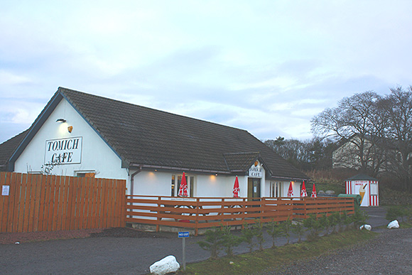 The Tomich Cafe, which is located on the A9 close to Invergordon and Alness, is being marketed by ASG Commercial at offers over £545,000 the freehold