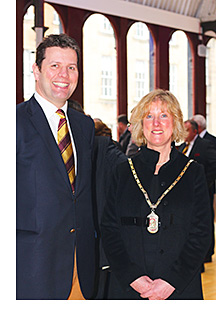 President Caroline Dewar and Guy Chatfield.