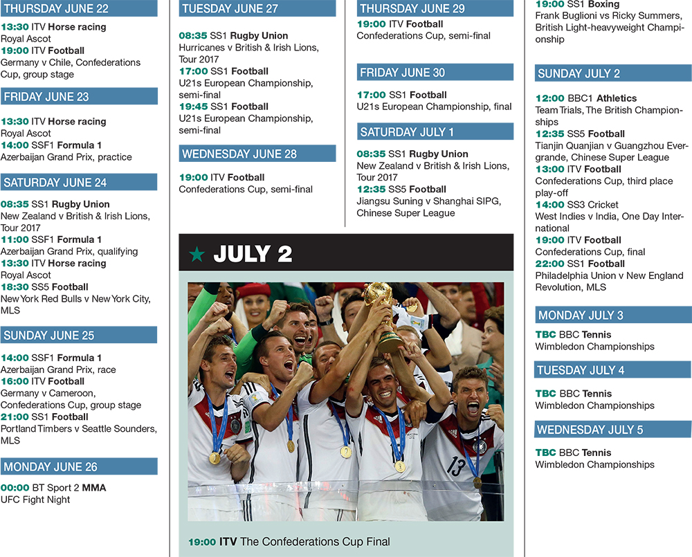 Sports fixture jun 22