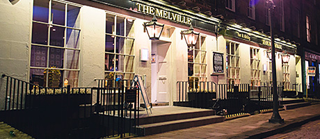 The exterior of The Melville was spruced up with a fresh coat of paint and new signage.