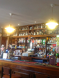 The bar at the Oatridge Hotel in West Lothian.