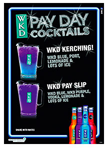 The Pay Day promotion will see a range of four money-themed cocktails promoted at the end of each month in a bid to boost sales around pay day.