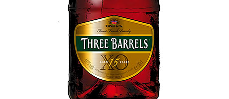 The new-look packaging aims to position Three Barrels as a contemporary, premium spirit.