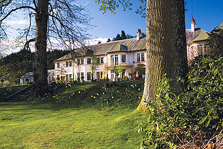 Hilton Dunkeld House is located on the banks of the River Tay.