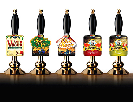 The draught range includes five ciders.