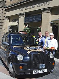 The Scottish Italian Awards branded taxi.