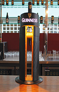 Guinness' magic behind the gates font.