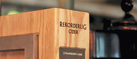 The new Rekorderlig font.