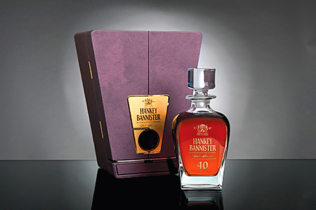 • A limited number of decanters containing the Hankey Bannister 40 year old have been released.