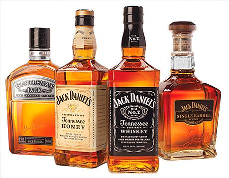 • Something for everyone: the Jack Daniel's range.