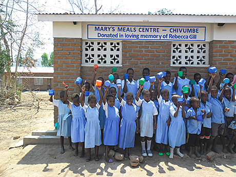 The Mary's Meals centre was donated in memory of Rebecca Gill.
