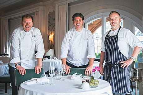 Cooking up a storm: Chris and Jeff Galvin (left and centre) with executive chef Craig Sandle.