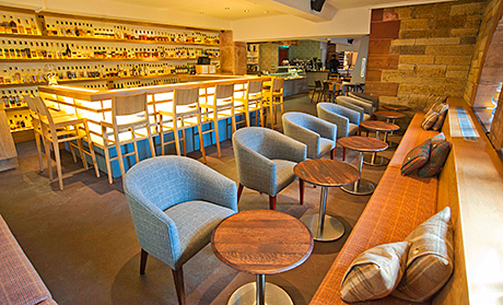 The refurbished bar is said to have 360 Scottish whiskies on offer.