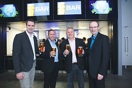 • Heineken's John Hutchison (left) with SECC chief executive John Sharkey, Heineken's Neil Convery and SECC commercial director Peter Duthie.