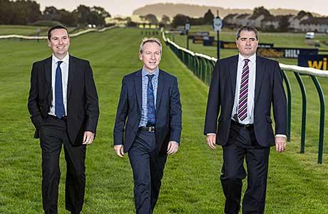 On track: Ayr Racecourse.
