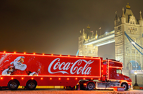 • The Coca-Cola Christmas truck will be touring the UK as part of its festive campaign for 2013.