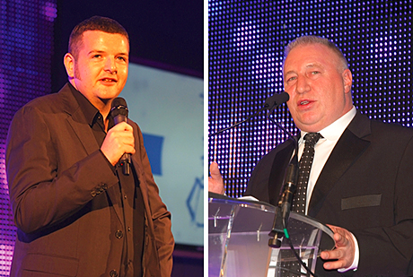 • Kevin Bridges presented the SLTN Awards for 2013, which culminated with Stuart Clarkson (above right) taking the  Award for Industry Achievement.