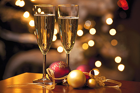 Christmas time, festive fizz and wine