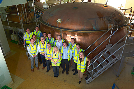 • Stonegate's pub managers learned more about the brewing process as part of the course.