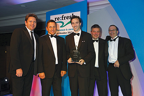 • Chef James Martin (left) presents the award to the team from Scotty Brand.
