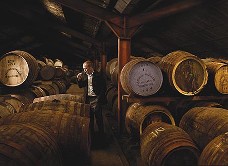 • Casks aplenty: Glengoyne distillery manager Robbie Hughes