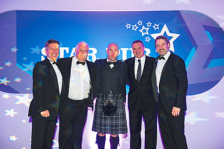 • Scottish finalists celebrated at the awards ceremony in Birmingham.