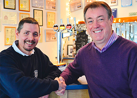 • Welcome aboard: Inveralmond MD Fergus Clark (left) with Andy Agnew.