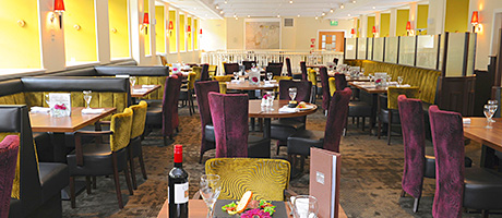 • The ongoing refurbishment project has included the restaurant.