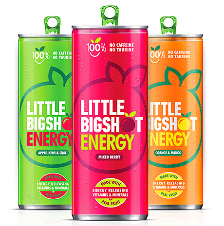 • The range of drinks contains three flavours: Fruit Berry, Orange & Mango and Apple, Kiwi & Lime.