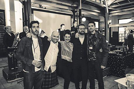 • Organisers (from left) Mike Aikman, Scott Gemmell, Lauren Stewart, Andy Gemmell and Stuart McCluskey.