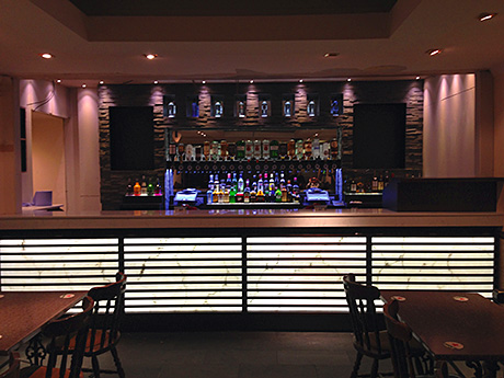 • The first of The Fort's lounge bars.
