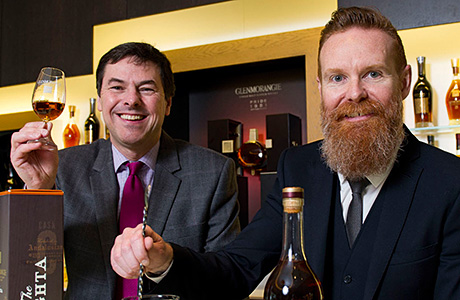 Glenmorangie's Dr Bill Lumsden and Jason Scott.