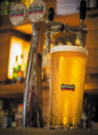 Amigos has been launched on draught.