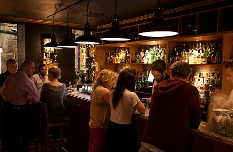 The Bon Vivant, Thistle Street, Edinburgh, customers