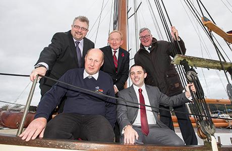 • Tourism chiefs at Inverness Marina.