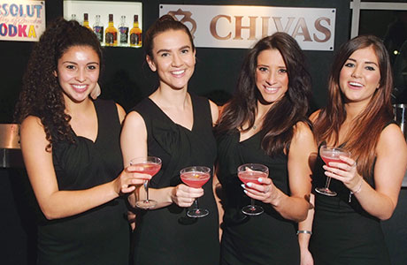 • Chivas (above) and Kopparberg (below) provided welcome drinks at the 2014 SLTN