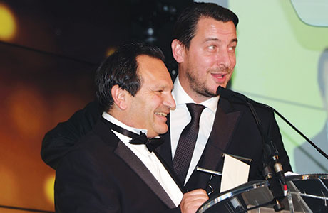 Di Maggio's Group directors Mario Gizzi and Tony Conetta were presented with the SLTN Award for Industry Achievement at the glittering awards ceremony